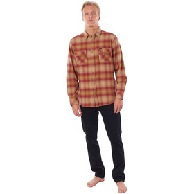 Rip Curl Count Sweat Manches Longues Homme, washed red
